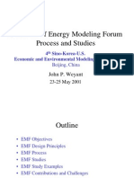 Overview of Energy Modeling Forum Process and Studies