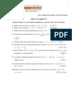 e Guia No 5 Calculo 2 Integrales Definidas y Aplicaciones