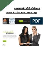 Manual de usuario del sistema www.exploracarreras.org