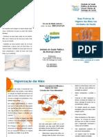 Higienização das mãos - profissionais de saúde