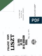 Liszt - La Idea de Fin en El Derecho Penal, Pp. 53-134