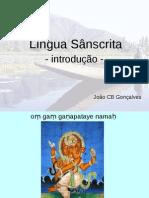 Lingua Sanscrita Introducao Joao Goncalves