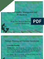 MGT449 QM & Productivity - Week 2