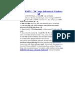 Cara BURNING CD Tanpa Software Di Windows XP