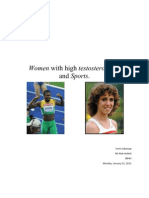 Women With High Testosterone Levels and Sports FINAL