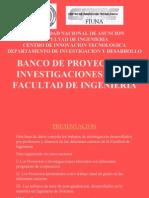 Banco de Proyectos e Investigaciones