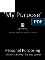 My Purpose- By Prof. Anand Narasimha