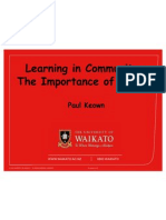 community learning values