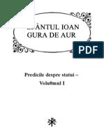 Sfantul Ioan Gura de Aur, Predicile Despre Statui - Volumul I