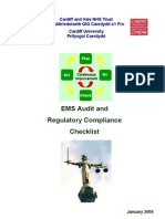Ems Audit and Regulatory Compliance - Checklist
