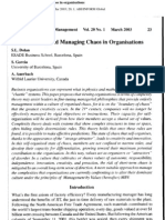 Understanding and Managing Chaos in Organ is at Ions