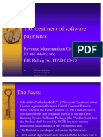 Tax Treatment of Software Payments FINAL
