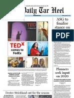 The Daily Tar Heel for January 23, 2012