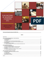 Plan Operativo Nacional de Seguridad Ciudadana2011
