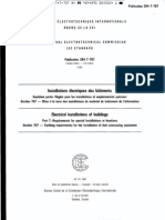 IEC 60364-7-707 Electrical Installations of Buildings - Requirements for Special Installations Or
