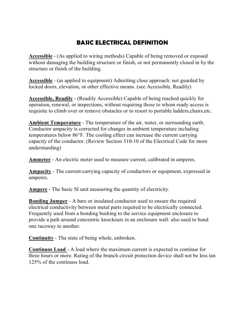 Nice Electrical Terminology For Dummies Inspiration - Wiring Diagram ...