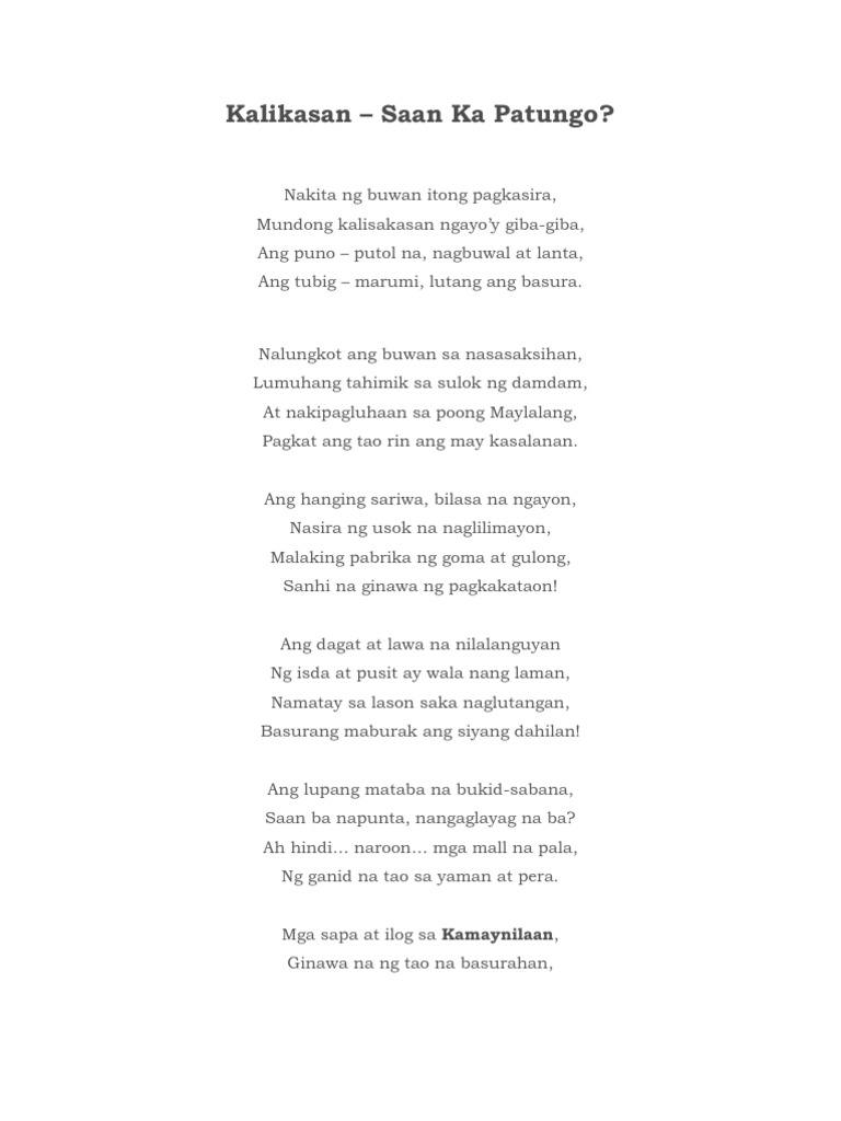 essay tungkol sa pagkasira ng kalikasan Ako po ay mag tatalumpati tungkol sa paglulunsad ng pangangalaga sa  essay is a piece of writing where the writer  ang pagkasira ng ating kalikasan,.