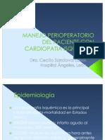 Manejo Perioperatorio Del Paciente Con Cardiopatia Isquemica