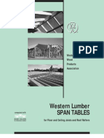 Wood Span Tables