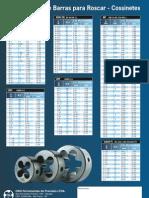 Diâmetros de Barra para Roscas - Cossinetes (Arquivo PDF)