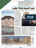 """La mostra sulle Città Ideali sarà """"da svenimento"""" - Il Resto del Carlino del 21 gennaio 2012"""