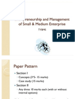 Entrepreneurship Management BMS