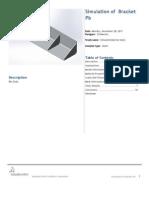 Bracket Pb SimulationXpress Study 1