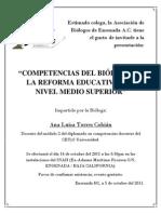 Biologo Reforma Educativa Nivel Medio Superior