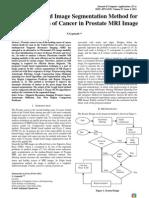 Graph Based Image Segmentation Method for Identification of Cancer in Prostate MRI Image