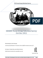 SESERV Focus Group Survey 3Q2011
