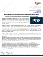 Appian Named Shortlist Leader in Ovum BPM Decision Matrix Report