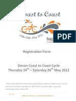 C2C 2012 Registration Form