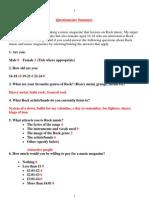 Task 8 Questionnaire Summary