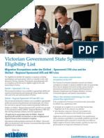 State Sponsorship Eligibility List Nov 2010