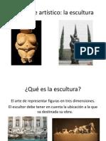 EL LENGUAJE ARTÍSTICO DE LA ESCULTURA