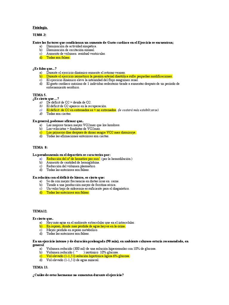examenes de fisiologia