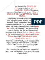 Edexcel as Geography - Global Challenges