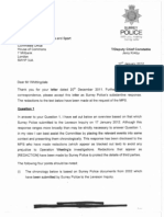 Surrey Police to Chairman 17 January 2012