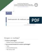 Seminar1 Instrumente de Evaluare Psihologica