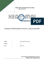 Xenomai on NIOS II Softcore Processor Guide-V1.2