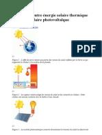 Différences entre énergie solaire thermique et énergie solaire photovoltaïque