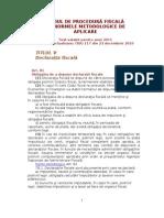 Codul de procedură fiscală_Declaratia fiscala