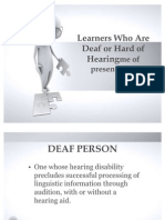 Learners Who Are Deaf or Hard of Hearingme