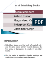 Presentation of Subsidiary Books
