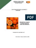 Planta Extractor A de Jugo de Naranja