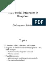 Multi-Modal Integration in Bangalore Rev1.2