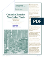 Control of Invasive Non-Native Plants