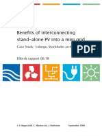 Benefits of Interconnecting Stand-Alone PV Into a Mini Grid