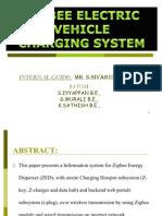 Zigbee Electric Vehicle Charging System