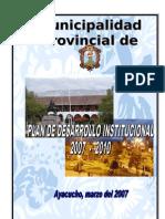 Plan Desarrollo Institucional 2007-2010